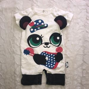 Panda Bear Onsie with tail. 9 Months